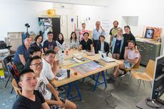 Artists group of scfai exchanged with prof susanne winterling and her students photo by robert schittko