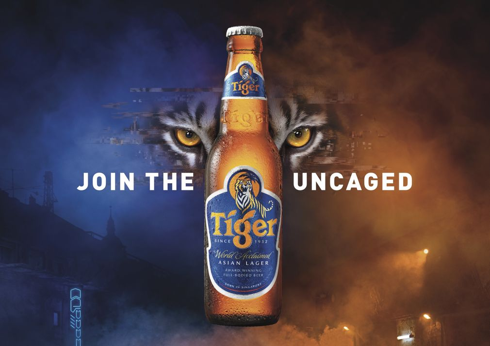 Tiger beer the uncaged visual 1