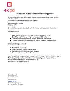 Praktikum social media marketing