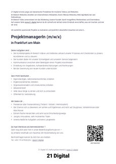 Projektmanagerin print version