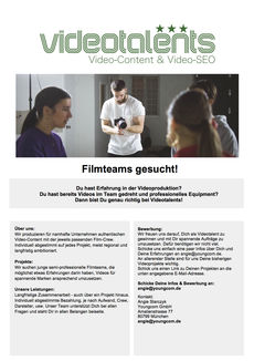 Flyer  videotalents